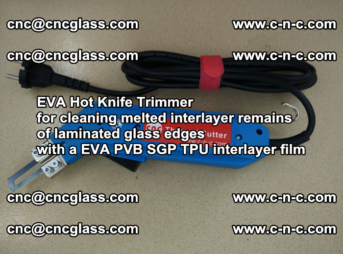 EVA HOT KNIFE TRIMMER cleaning PVB SGP EVA interlayer film overflowed remains outof laminated glass edges (28)