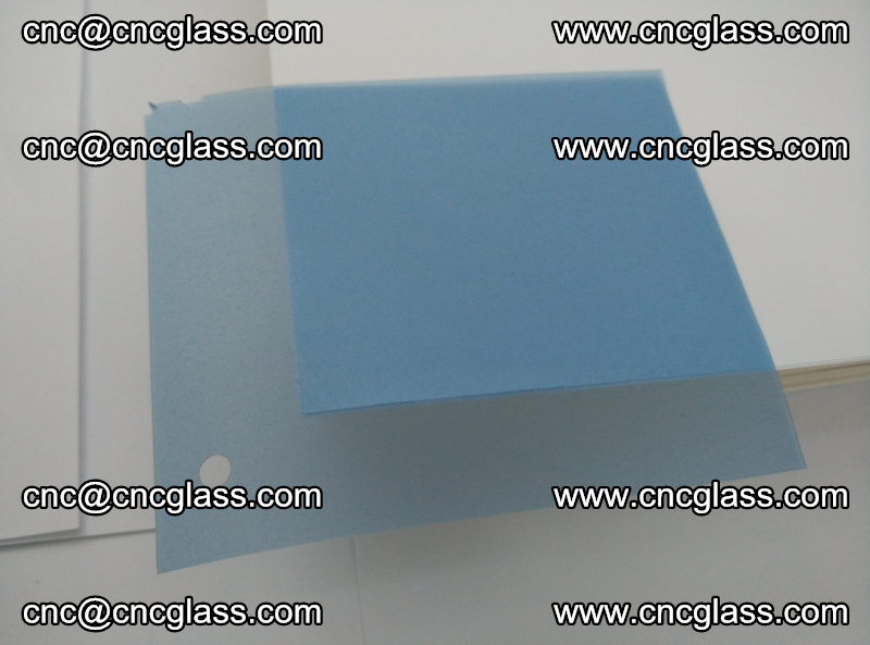 Eva laminating glass interlayer film foil, Transparent royal blue color (11)