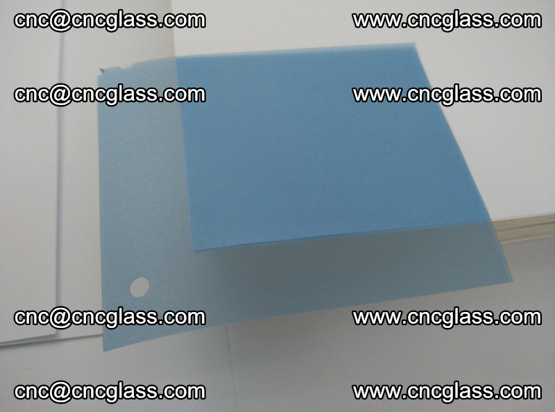 Eva laminating glass interlayer film foil, Transparent royal blue color (13)