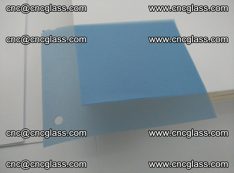 Eva laminating glass interlayer film foil, Transparent royal blue color (14)