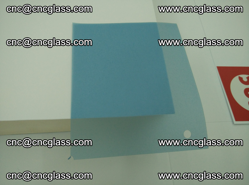 Eva laminating glass interlayer film foil, Transparent royal blue color (15)