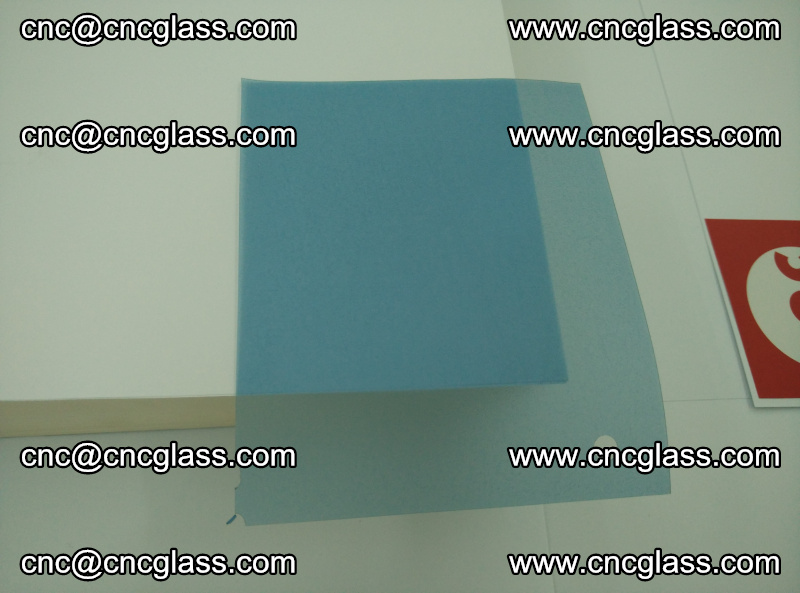 Eva laminating glass interlayer film foil, Transparent royal blue color (17)