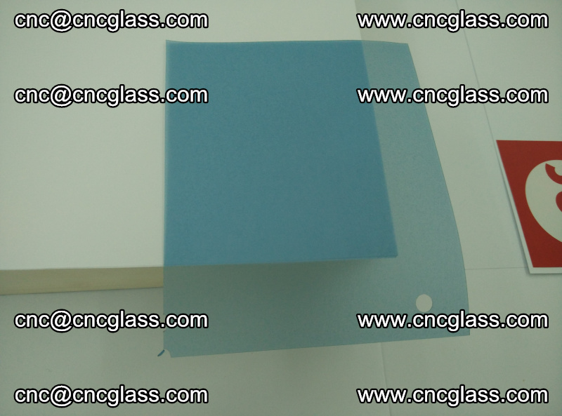 Eva laminating glass interlayer film foil, Transparent royal blue color (18)