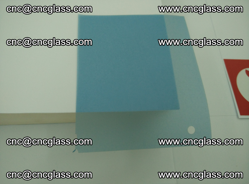 Eva laminating glass interlayer film foil, Transparent royal blue color (19)