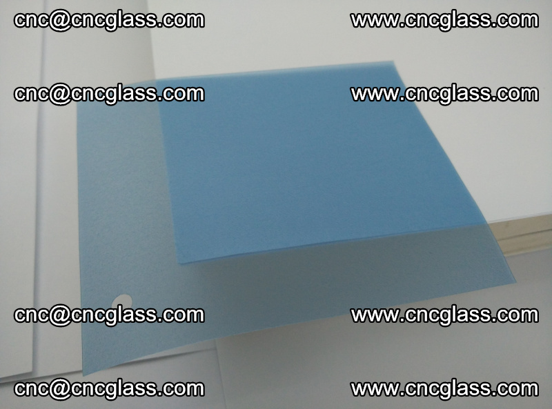 Eva laminating glass interlayer film foil, Transparent royal blue color (3)