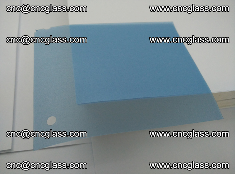Eva laminating glass interlayer film foil, Transparent royal blue color (4)