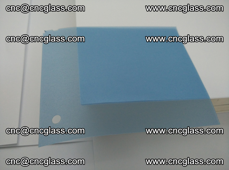 Eva laminating glass interlayer film foil, Transparent royal blue color (5)