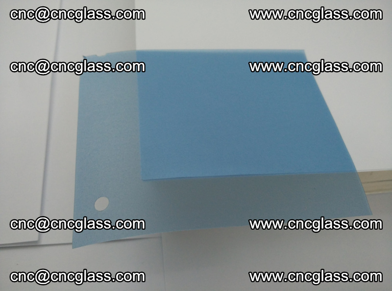 Eva laminating glass interlayer film foil, Transparent royal blue color (6)