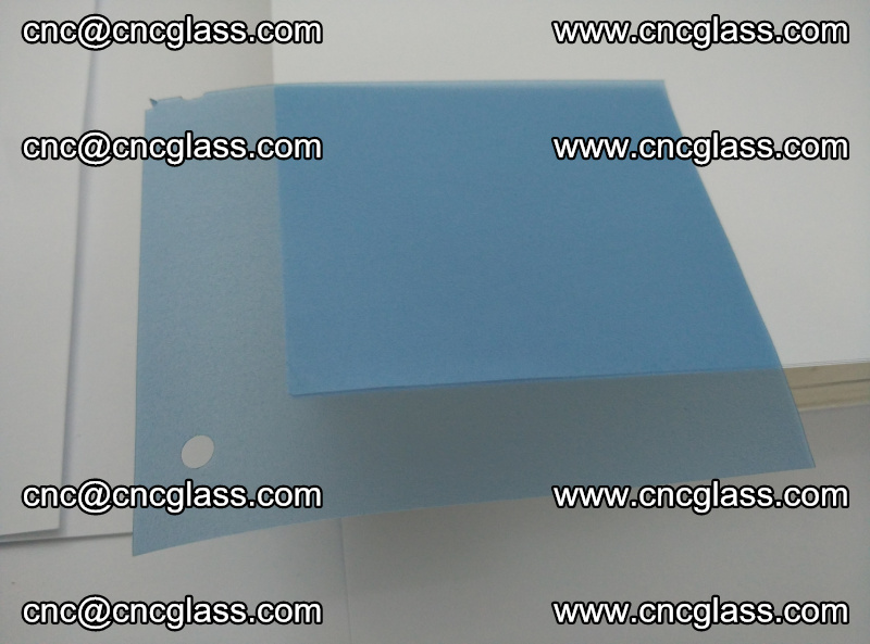 Eva laminating glass interlayer film foil, Transparent royal blue color (7)